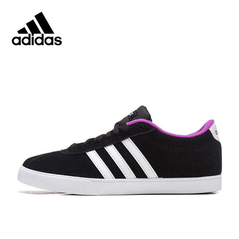 Official Black Stripe Adidas Sneakers NEO Label Women's Classics Skateboarding Shoes Lace-up Sports Sneakers