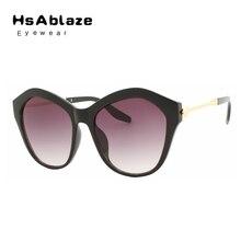 HsAblaze Eyewear Cat Eye Sunglasses Women Round Mirror Sunglass Woman Gradient Vintage Glasses Oculos font b
