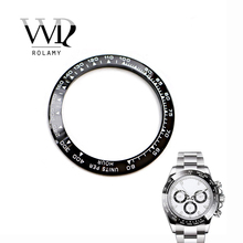 Rolamy Wholesale High Quality Ceramic Black with White Writing 38.6mm Watch Bezel for DAYTONA 116500 - 116520