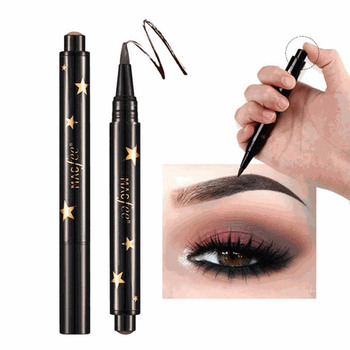 1 Pcs Black Brown Eye Brow Tattoo Press Kit Long Lasting Waterproof Liquid Mascara Cream Paint  Eyebrow Pencil Make Up