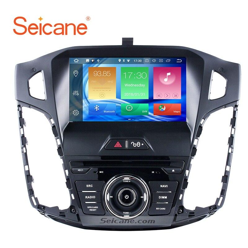 Seicane 8 Android 8.0 1080 P GPS Headunit Multimédia de Navigation pour 2011-2013 Ford focus 4G RAM stéréo enregistreur à bande