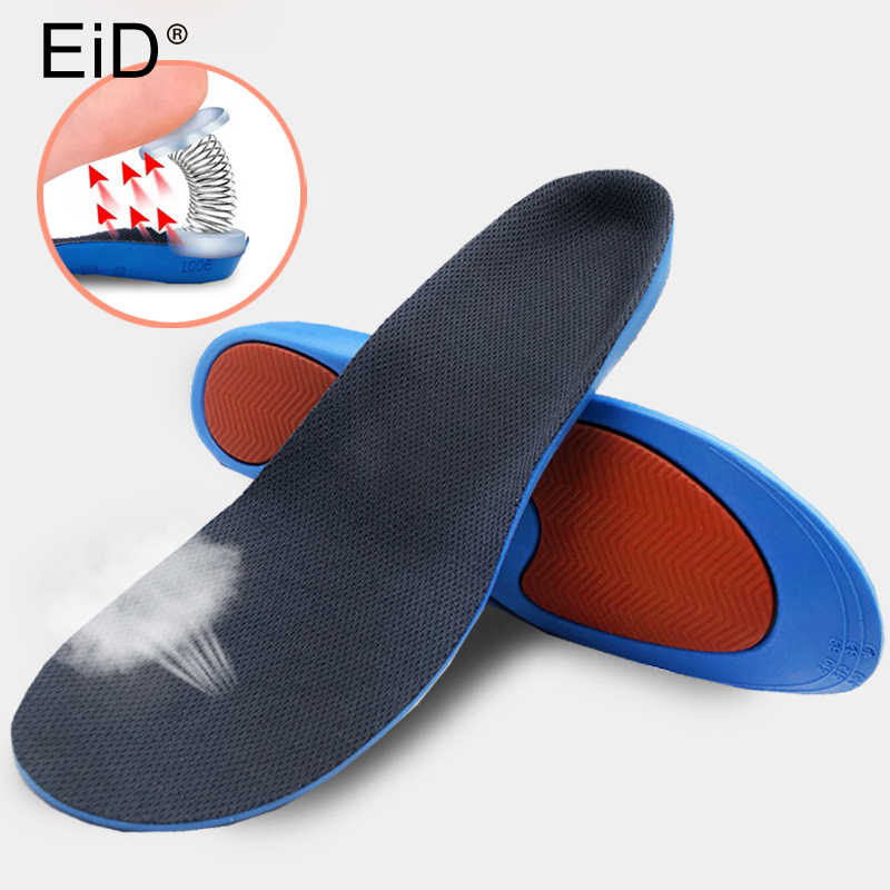 f85ec44eef ... Unisex PU Athletic Comfort Insoles with Shock Absorption Pads Daily  Wear Work Shoes Inserts Arch Support