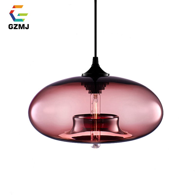 GZMJ Modern Pendant Lights Rustic Style Bell-shape Pendant Lamp Contracted Personality Stained Glass Lamp Light Home Lighting ark light rustic glass pendant antique american style light brief vintage reminisced classical iron glass bell pendant lamp