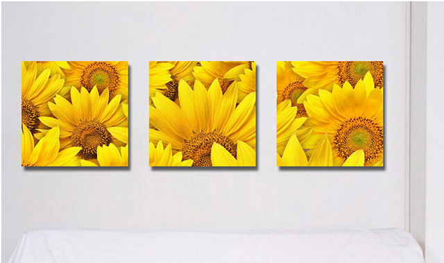 Superb Beauty Painting Pictures Decor Living Room Decoration Sunflower Wall Art  Print On Canvas Artwork Painted With