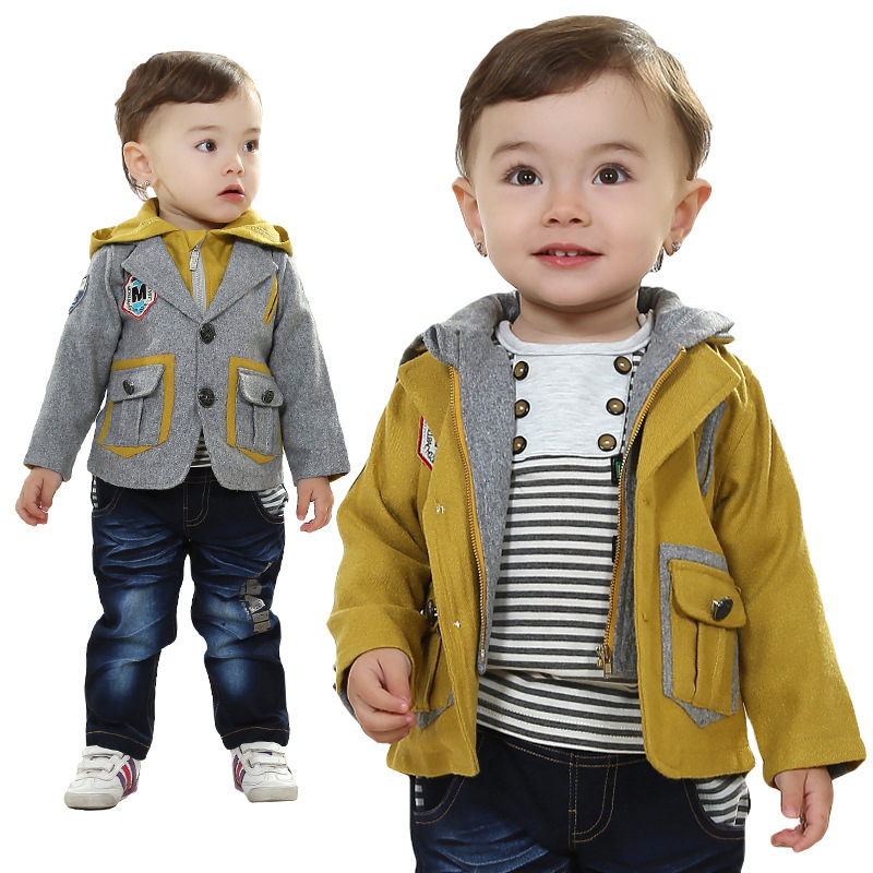 ФОТО Anlencool Roupas Infantil Meninas Baby Clothing Sets European And American Children's Suit Boy Set Newborn Spring Clothes