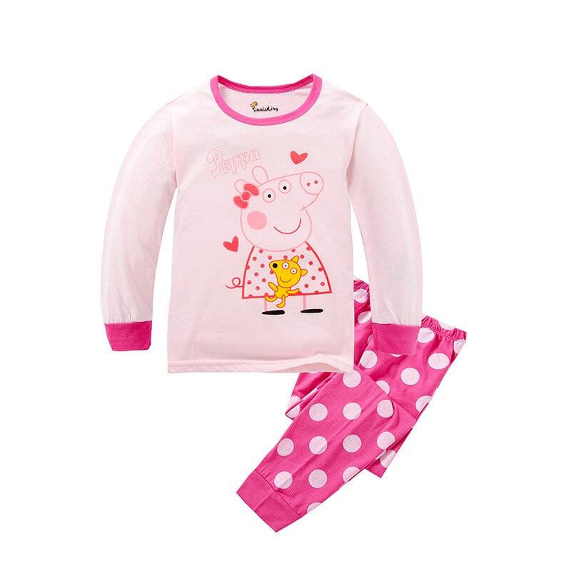 tinoluling garons vtements de nuit bb filles pyjama enfants vtements enfants pyjamas ensembles peppa pig style