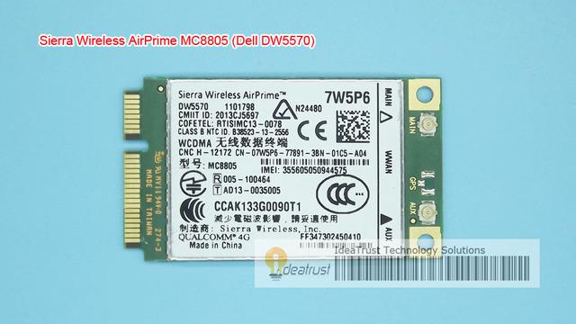 DW5570 07W5P6 Sierra MC8805 WWAN HSPA + Banda Larga Móvel WWAN Placa de Rede para E5440 E6440 E6540