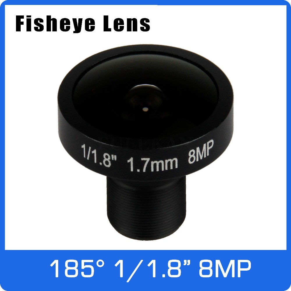 4K Lens 8Megapixel Fisheye 1/1.8 Inch 185 Degree M12 Mount Lens 1.7mm For IMX178 Sensor 4K Camera Free Shipping 8megapixel varifocal cctv 4k lens 1 1 8 inch 3 6 10mm cs mount dc iris for sony imx178 imx274 box camera 4k camera free shipping