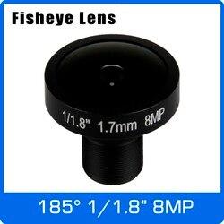 Obiektyw 4K 8 megapikselowy rybie oko 1/1/1 Cal 185 stopni M12 mocowanie obiektywu 1.7mm dla czujnika IMX178 4K kamera darmowa wysyłka
