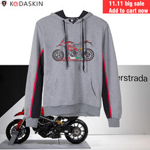 KODASKIN Men Hoodies MotoGP Hooded Coat Motorcycle Sweatshirts Hoody for Ducati Hyperstrada 820(China)