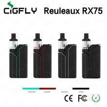 บุหรี่อิเล็กทรอนิกส์Wismec Reuleaux RX75ชุดเริ่มต้นกับTC 75วัตต์RX75Wกล่องสมัยVape 2มิลลิลิตรไมเนอร์เครื่องฉีดน้ำขนาดเล็กVaporizer