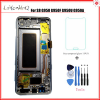 Super AMOLED For Samsung Galaxy LCD S8 G950 G950FD G950U Display Touch Screen Digitizer assembly LCD with frame for samsung S8