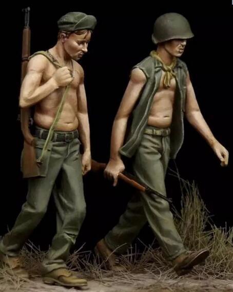 1/35 Resin Figures US Soldier 2pcs/set1/35 Resin Figures US Soldier 2pcs/set