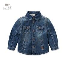 DB4278 дэйв белла осень мальчиков джинсовой куртке детская одежда малыша пальто дети джинсовая пальто для мальчика прохладный пальто