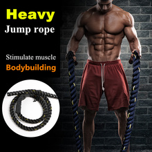 2.8m x 25mm Heavy Jump Rope Crossfit Weighted Battle Skipping Ropes Power Training Improve Strength Fitness Home Gym Equipment