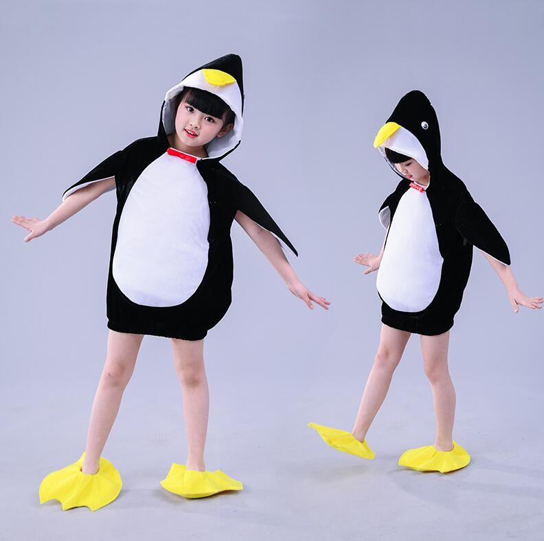 2019 Halloween Penguin Costume Baby Girls Kids Animal Jumpsuit Carnival Party Cosplay Performance Fancy Dress Child Costume