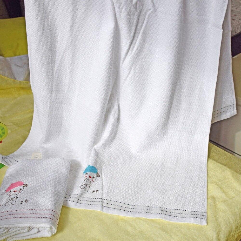 100% cotton white bath towel woven design soft good water imbibition ...