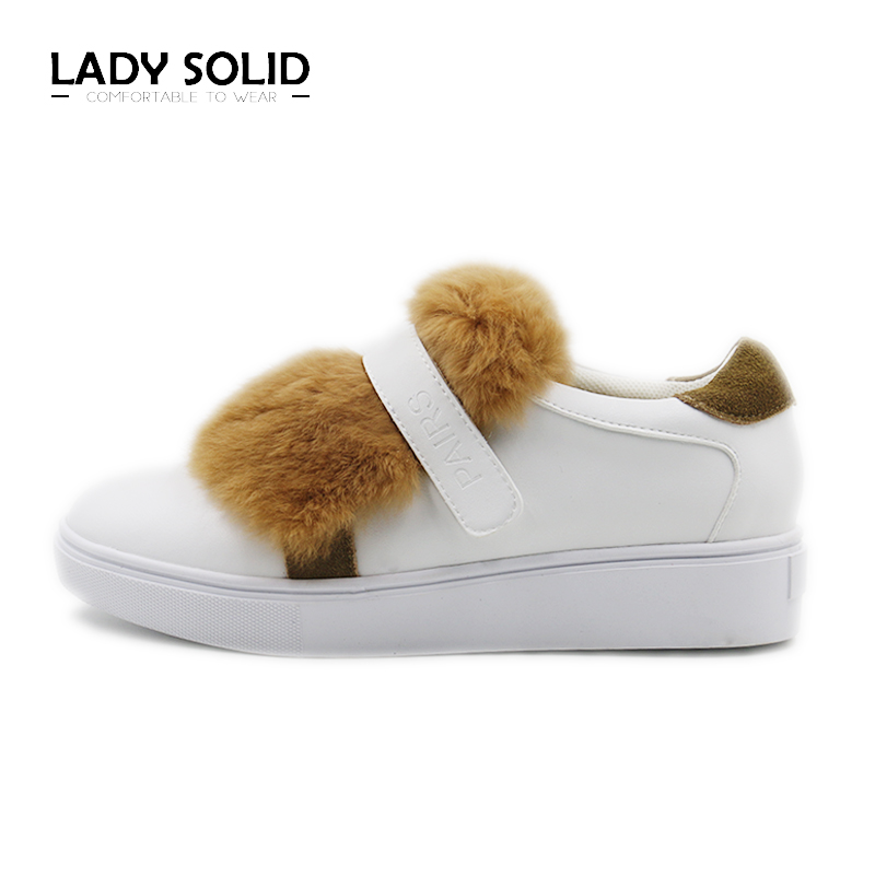 2018 Spring Autumn Woman Shoes Fur Loafers Slides Warm  Ladies White  Flats Genuine Leather  35-40 Fashion Shoes Women #9033-1 lovexss genuine leather white flats lace up woman girl student shoes 2017 spring autumn loafers shallow crystal flats