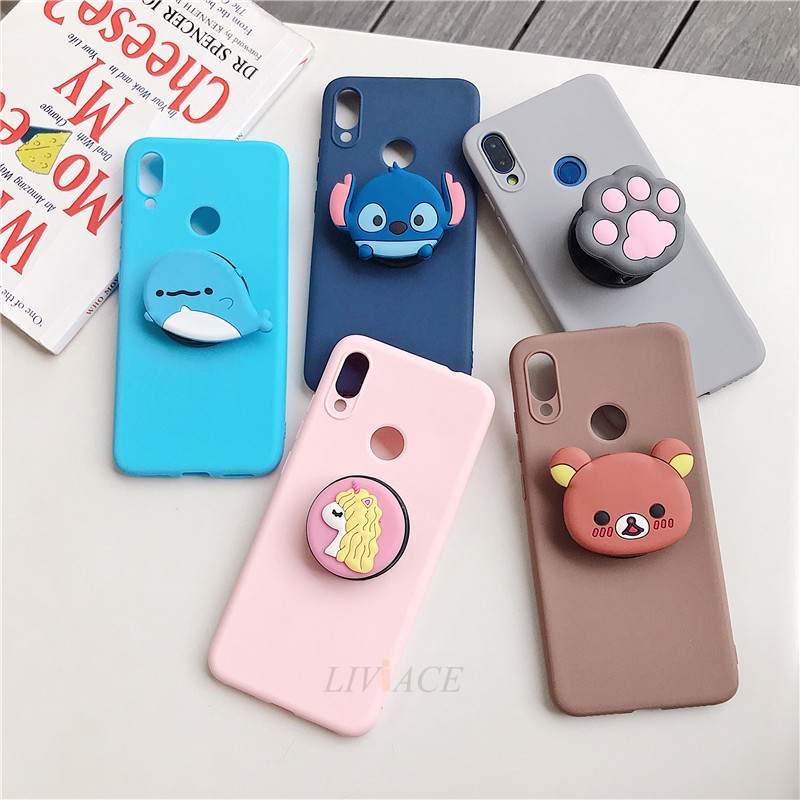 3D Cartoon Silicone Phone Standing Case for Xiaomi And Redmi Phones 2