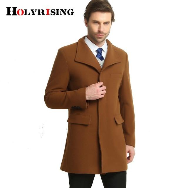 Uomo Cappotti di Lana Giacche Lunghe e Calde Collare Del Basamento  Esplosione Caldo autunno Inverno Mens daacc3e18dd
