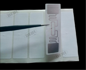 Image 2 - 100ชิ้นUHFสติกเกอร์ฉลากAZ 9662 860 960เมกะเฮิร์ตซ์UHF RFIDกาวแท็กISO 18000 6Cคนต่างด้าวH3ชิปฝัง73*23มิลลิเมตร