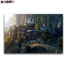 5D DIY Алмазная вышивка крестиком замок фантазия полная квадратная Алмазная вышивка пейзаж полная круглая Алмазная мозаика 3D фильм