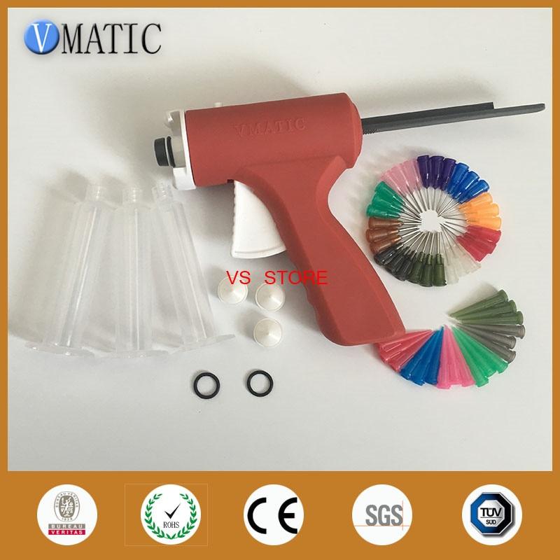 Free Shipping 10 Cc Ml Liquid Dispensing Glue Caulking Syringe Gun With Syringe & Needles