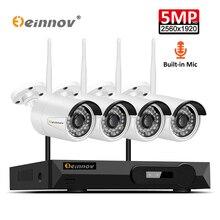 Камера видеонаблюдения Einnov H.264 + NVR, беспроводная система безопасности, водонепроницаемая, IP66 HD, 1080P, Wi Fi, IP