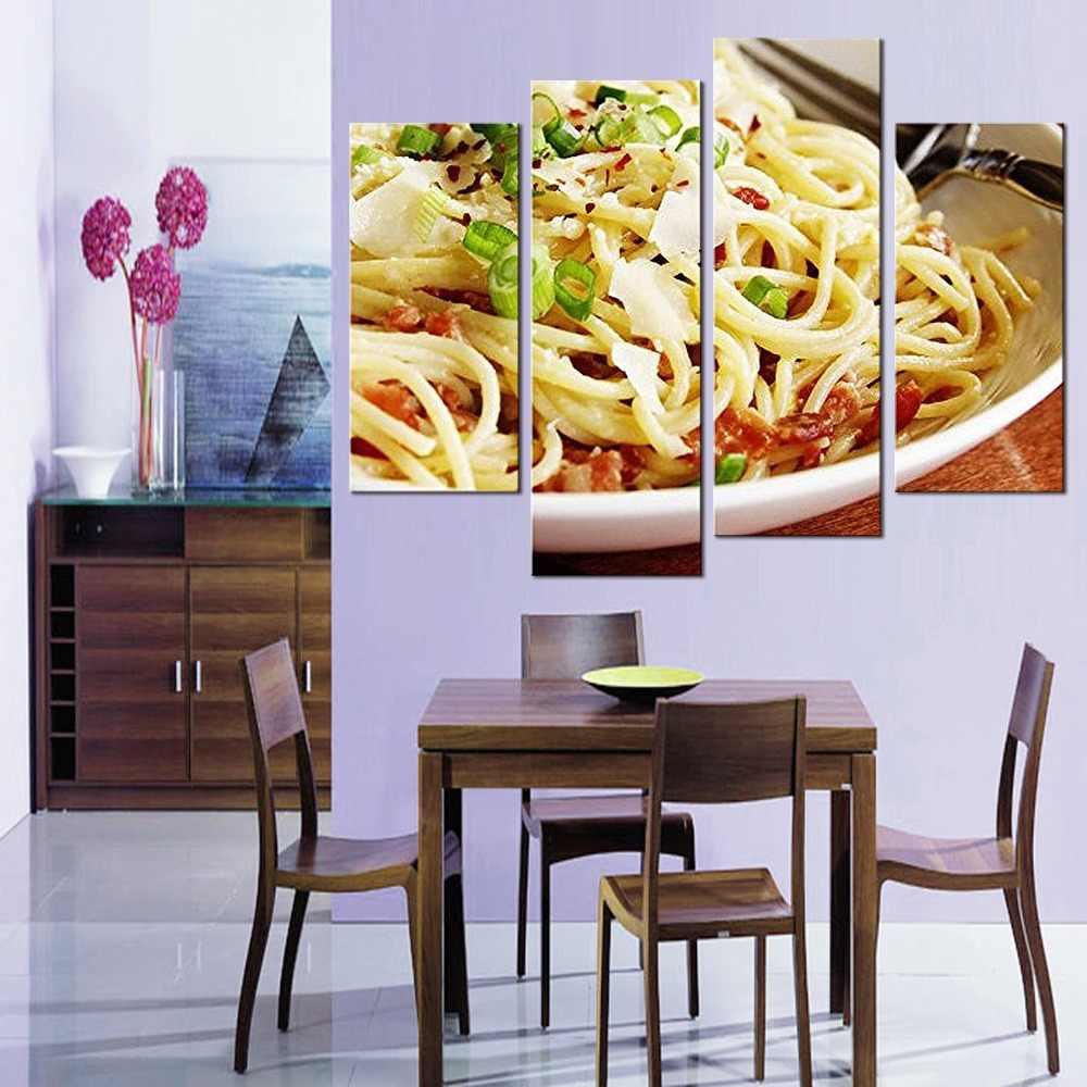 4 أجزاء الصورة جدار الفن ديكور غرفة الطباعة المشارك الغذاء الشعرية سلسلة جدار غرفة المعيشة قماش اللوحة