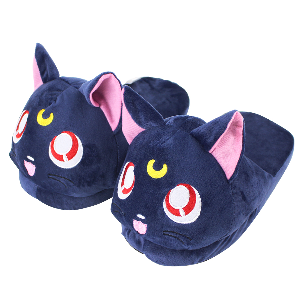 Novelty & Special Use Anime Sailor Moon Cosplay Prop Luna Cat Cos Slippers Warm Cotton Slippers Fans Collection Drop Ship