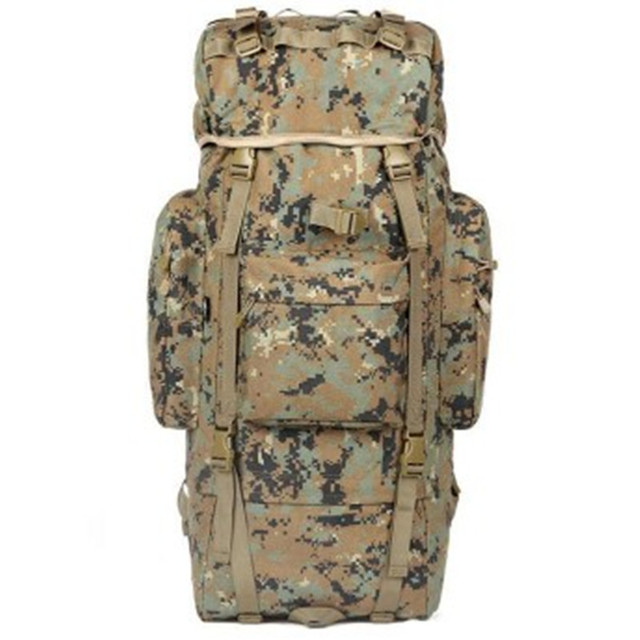 48c2bc0b9918 KUNDUI New Luggage double-shoulder Bags professional mountaineering bag 100  L waterproof backpack Camouflage travel