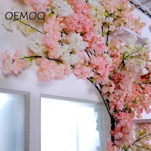 105cm Sakura Artificial Plants Plastic Fake Flowers Silk Cherry Blossom Branches Silk Flowers For Wedding Party