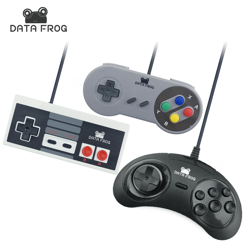 3 Pcs Wired USB Joystick For Snes USB PC Gamepad Gaming For Nes For Sega Controller Game Joypad For PC Computer dilong pu401 usb 2 0 wired pc game pad shocks joystick black 168cm cable