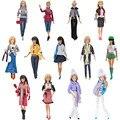 Bonecas artesanais roupas camisa calças outfit + bolsa + sapatos para barbie doll