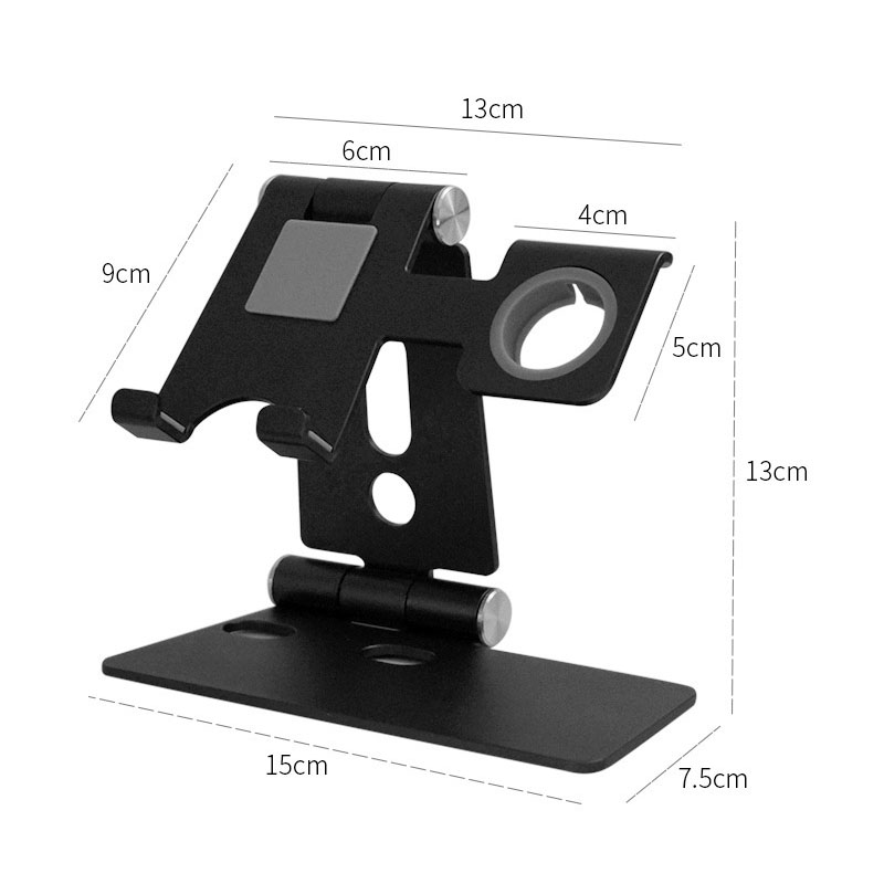 1 Piece Mobile Phone Bracket Desk Lazy Tablet Bracket Desktop Aluminum Phone Holder Stand