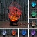 Envío de la nueva 2017 Super Mario infantil 3D Lámpara de Noche de Luz LED de Acrílico Atmósfera Colorida Lámpara de Regalos de La Novedad Presente