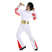лучшая цена Halloween costume Christmas carnaval kigurumi Elvis Presley stage role acting peformence party costume disfraz party cosplay