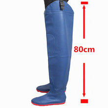 80cm Height Fishing Waders Boots Waterproof 0.55mm Thickening PVC Material Knee thickening Soft Boots Fishing Waders Boots