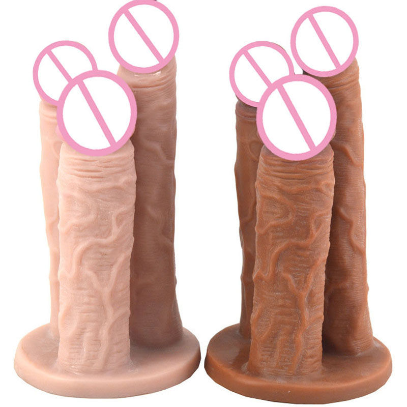 Novelty 3-Headed Dildo Realistic Penis Artificial Large Dick Adult Sex Toys For Woman Lesbian Anal Dildo Big Dildos For Women lesbian woman double ended dildo realistic penis big dick anal and vagina double dong penetration long dildos for women sex toys