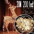New 20M 200 LED Fairy String Lights Multi-color 220V Waterproof holiday led lighting Christmas/Wedding/Party Decoration Lights