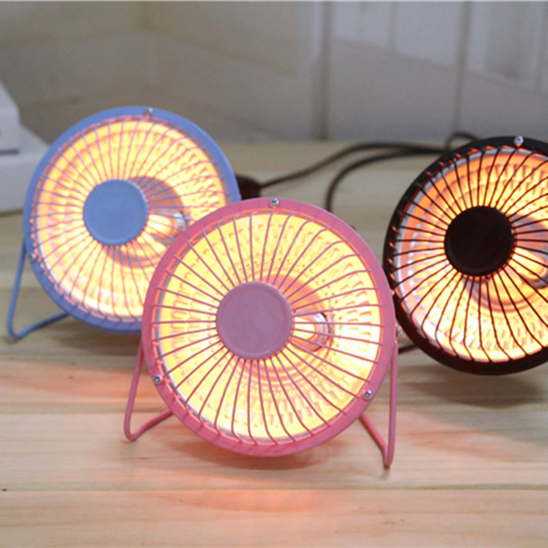 New Mini Handy Heater Portable 4inch  Electric Home Air Heater Warm Fan Halogen Tube Heating Desktop For Winter  Bathroom