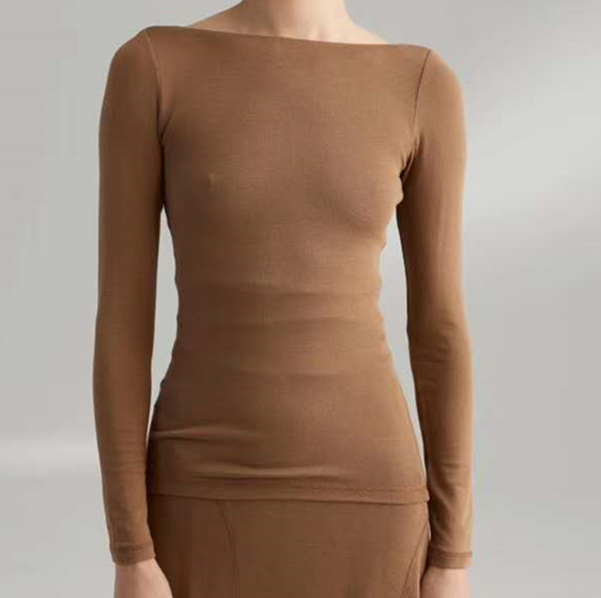 women backless slim knitted tops 2019 new U type halter tops women thin knitted tops t shirt|T-Shirts| - AliExpress