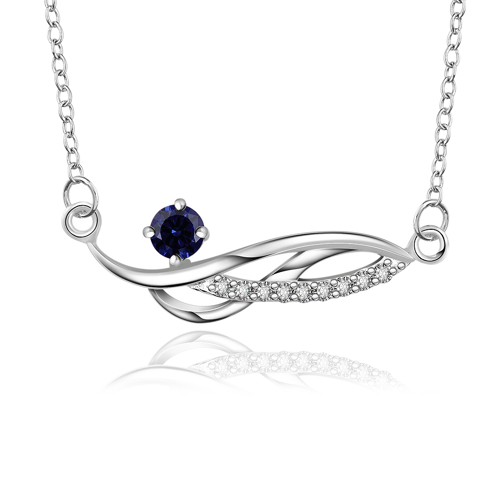 new 925 sterling silver jewelry long hollow flower wide tag blue