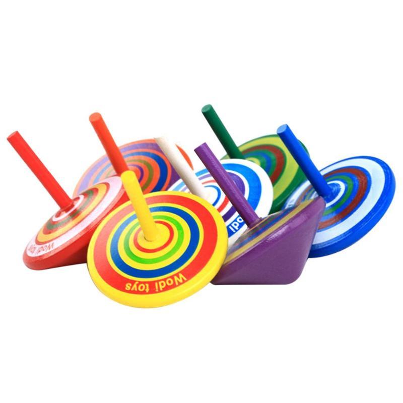 Wood Gyro Kid Wood Toys Kids Toys Children Relief Stress Desktop Spinning Top Toys Children Birthday Festival Gifts
