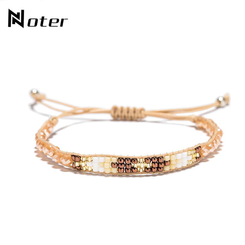 2018 New Arrival Boho Seed Bead Bracelet Charm Adjustable Weave Rope Braslet For Women Summer Beach Best Friend Jewelry Pulsera