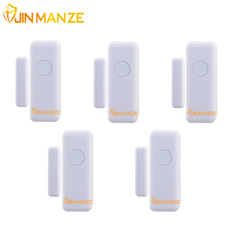 JINMANZE High Quality Wireless Home Security Door Window sensor for Alarm System Magnetic Sensor 5pcs free shipping