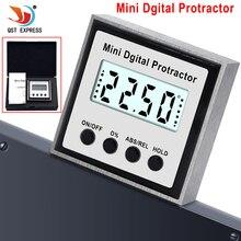 Transferidor eletrônico digital, transferidor digital, inclinômetro 0 360, aço inoxidável, caixa de pá, medidor de ângulo, ímãs, base, ferramenta de medição