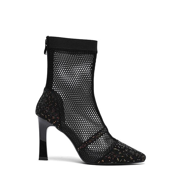 Arden Black Mode Cm Freizeit 9 Stilettos Sandalen Sommer Mesh Stiefel Zipper Furtado Frauen Schuhe Zurück 2019 Stiefeletten aqxF1awrX
