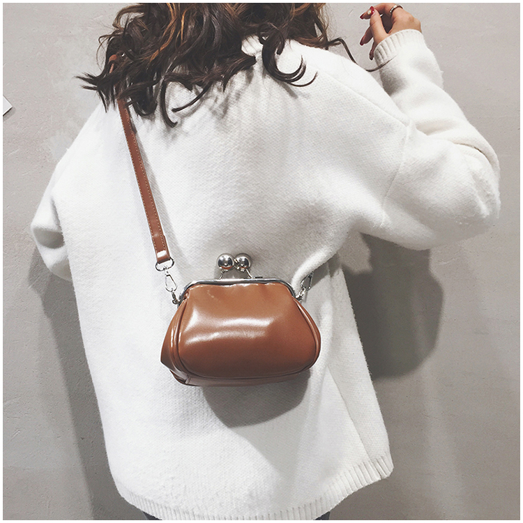 bags women leather shoulder crossbody bag women's handbag kiss lock bag (2)