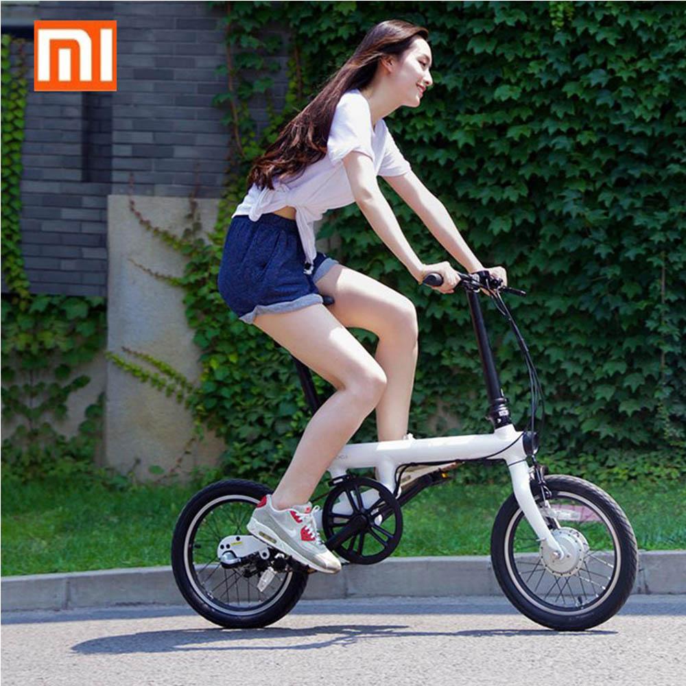 100% Original Xiaomi QiCYCLE-EF1 Falten Elektro-bike Bluetooth Smart Elektrische Fahrrad 16 zoll Mini Fahrrad APP